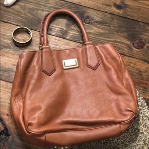 Marc by Marc Jacobs brown leather purse.